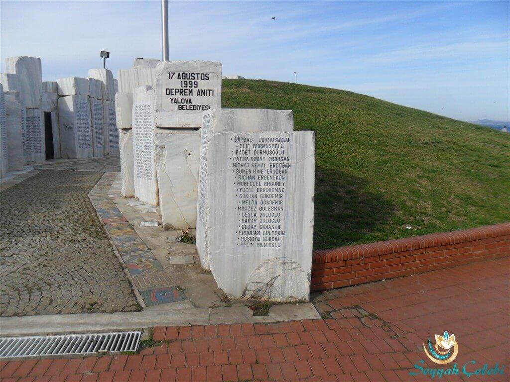 Yalova Deprem Anıtı İsimler